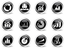 Iconos del gráfico de la información Foto de archivo