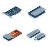 Iconos del hardware fijados - elementos del diseño los 55m Fotos de archivo