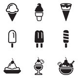 Iconos del helado libre illustration