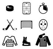 Iconos del hockey Imágenes de archivo libres de regalías