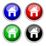 Iconos del hogar, colección coloreada Fotos de archivo libres de regalías