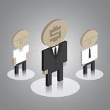 Iconos del hombre de negocios Imagen de archivo