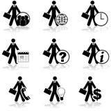 Iconos del hombre de negocios libre illustration