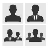 Iconos del hombre de negocios Imagen de archivo libre de regalías