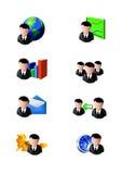 Iconos del hombre de negocios Fotos de archivo