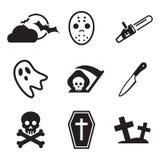 Iconos del horror Imagen de archivo libre de regalías