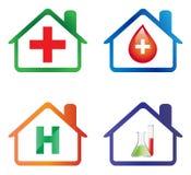 Iconos del hospital Foto de archivo libre de regalías