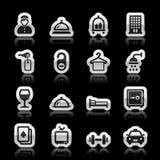 Iconos del hotel Fotografía de archivo