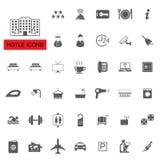 Iconos del hotel Imagen de archivo libre de regalías