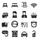 Iconos del hotel Foto de archivo libre de regalías