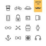 Iconos del inconformista fijados libre illustration