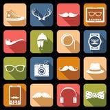 Iconos del inconformista planos Fotos de archivo libres de regalías
