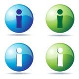 Iconos del Info ilustración del vector