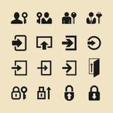 Iconos del inicio de sesión para el sitio web o el app libre illustration