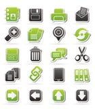 Iconos del interfaz de Internet Foto de archivo libre de regalías