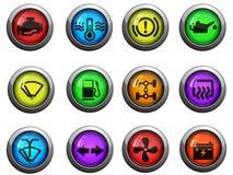 Iconos del interfaz del coche fijados Imagen de archivo