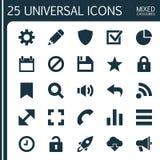 Iconos del interfaz fijados stock de ilustración
