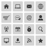 Iconos del Internet Imágenes de archivo libres de regalías