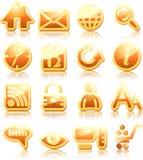 Iconos del Internet Imagen de archivo libre de regalías