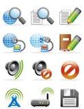 Iconos del Internet Fotos de archivo