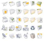 Iconos del Internet - carpetas y media Imágenes de archivo libres de regalías