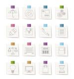 Iconos del Internet del asunto y de la oficina Fotos de archivo libres de regalías