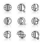 Iconos del Internet del vector Imagen de archivo libre de regalías