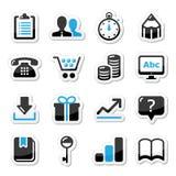 Iconos del Internet del Web fijados -   Foto de archivo