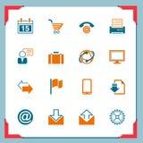 Iconos del Internet | En una serie del marco ilustración del vector