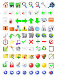 Iconos del Internet fijados Fotos de archivo libres de regalías