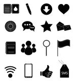 Iconos del Internet fijados ilustración del vector