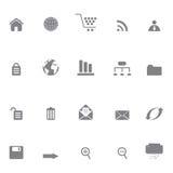 Iconos del Internet o del Web site Imagen de archivo