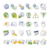 Iconos del Internet - red Foto de archivo libre de regalías