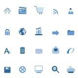 Iconos del Internet y del Web Imagen de archivo libre de regalías