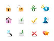 Iconos del Internet y del Web site Stock de ilustración