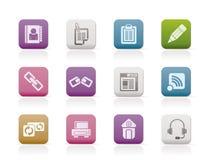 Iconos del Internet y del Web site Imagenes de archivo