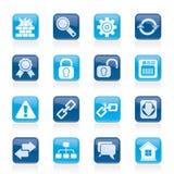 Iconos del Internet y del Web site Imágenes de archivo libres de regalías
