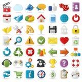 Iconos del Internet y del Web site Imagen de archivo libre de regalías