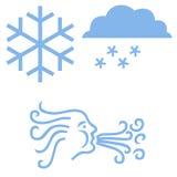 Iconos del invierno Foto de archivo libre de regalías