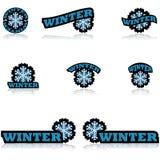 Iconos del invierno Imagenes de archivo
