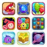 Iconos del juego de la tienda del App Imagen de archivo