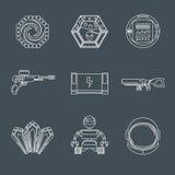 Iconos del juego del espacio libre illustration