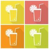 Iconos del jugo de la fruta cítrica stock de ilustración