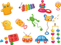 Iconos del juguete del vector. Juguetes del bebé Fotos de archivo