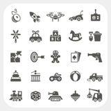 Iconos del juguete fijados Fotos de archivo