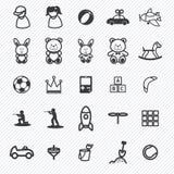 Iconos del juguete fijados Ilustración Imagen de archivo libre de regalías