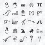 Iconos del juguete fijados Ilustración Fotografía de archivo