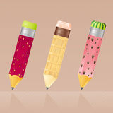 Iconos del lápiz Imagen de archivo libre de regalías