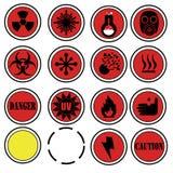 Iconos del laboratorio del peligro Foto de archivo libre de regalías