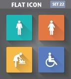 Iconos del lavabo del uso del vector fijados Fotos de archivo